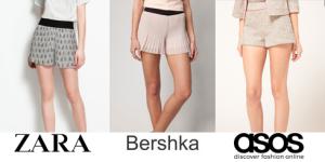 Shorts tiendas