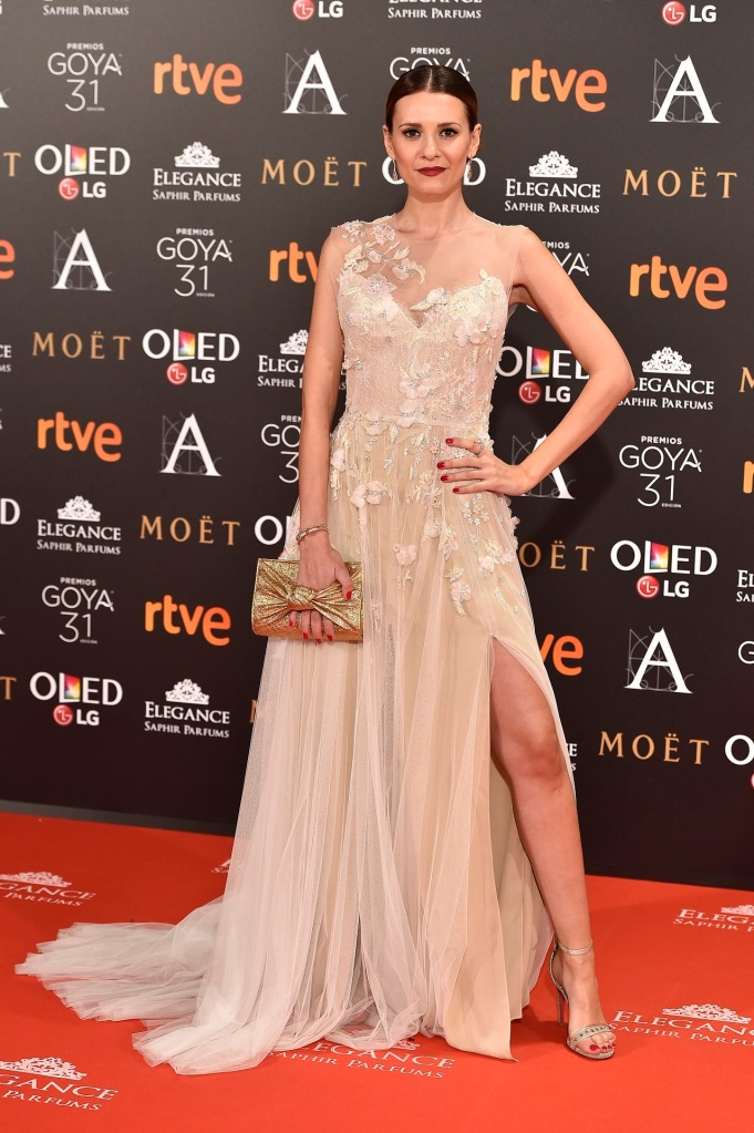 Actress Elena Ballesteros at photocall during the 31th annual Goya Film Awards in Madrid, on Saturday 4th February, 2017.