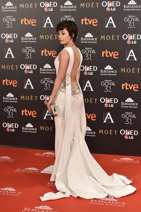 "Actress Anna Castillo at photocall during the 31th annual Goya Film Awards in Madrid, on Saturday 4th February, 2017. en la foto : vestida por la firma "" Georges Hobeika """
