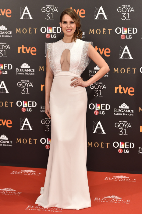Actress Natalia Sanchez at photocall during the 31th annual Goya Film Awards in Madrid, on Saturday 4th February, 2017.